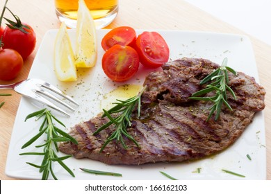 Close up view of same veal steaks