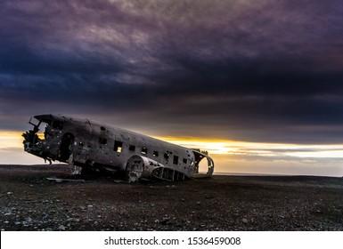Close view of Solheimasandur Plane Wreck
