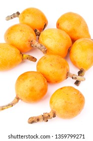 Close up view of some loquat frui