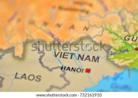 Close View State Vietnam On Map Stock Photo (Edit Now) 732162910 ...