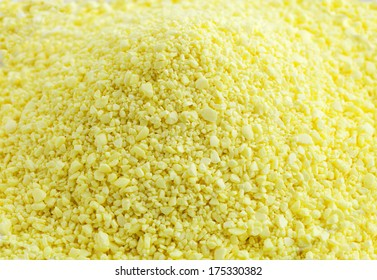 Close up view of sulfur