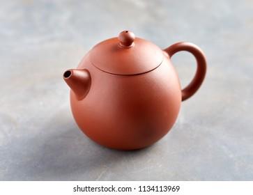 Close up view of tea pot