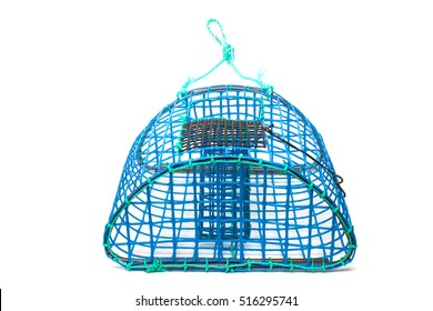 Close view of a traditional octopus trap isolated on a white background.