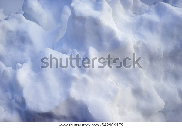 Close up view of white soft snow outdoors