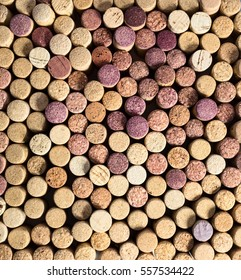 Close up view of wine cork background