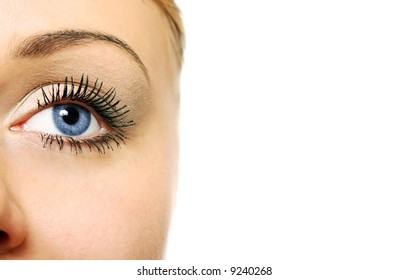 Close view of woman eye (shallow DOF)