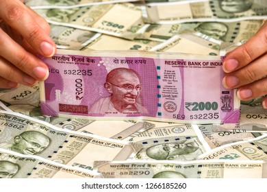 Two Thousand Indian Rupee Background Stock Photo Edit Now