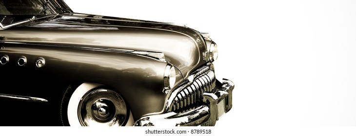 close up of vintage car