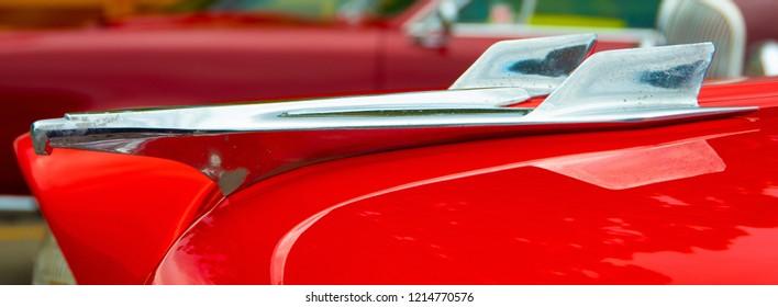 Close up of Vintage Car Hood ornament