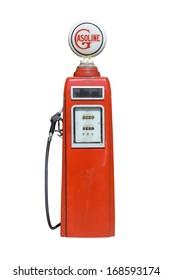 close up of vintage fuel dispenser
