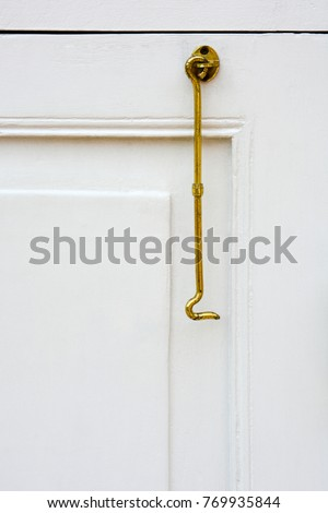Close Vintage Gold Color Window Hook Stock Photo (Edit Now ...