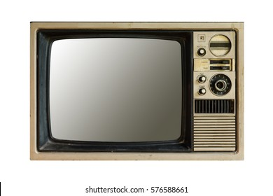 Close up vintage television.