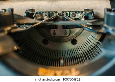 Close up of vintage  typewritter machine
