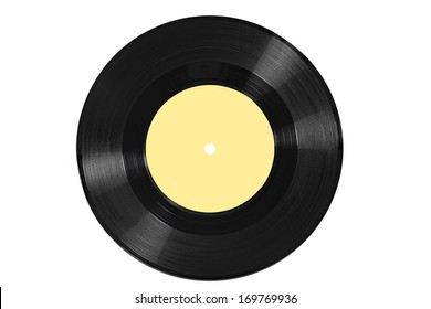 close up of a vinyl on white background