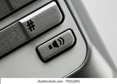 Close up of volume button