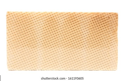 Close up of waffer brick. Isolated on a white background.