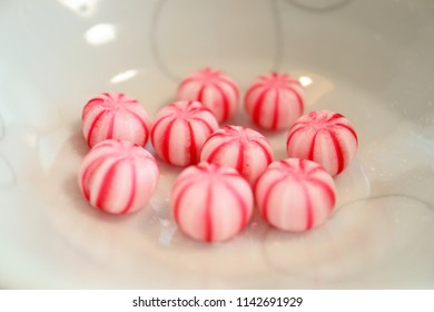 Close up the Wagashi Candy, Japanese Traditional Sweets