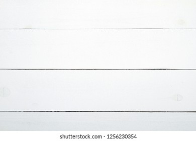 Close up of Wall Made of Wooden Planks. White Wooden Boards With Texture as Background