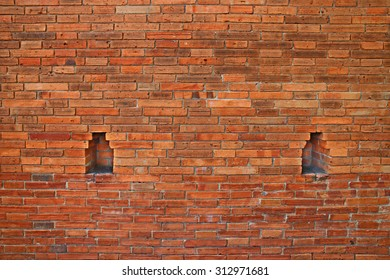 Close up the wall of Tha Phae Gate in Chiang Mai, Thailand