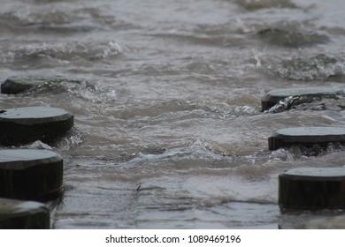 Close up of water at beach