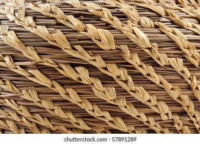 Close up of a weaved basket