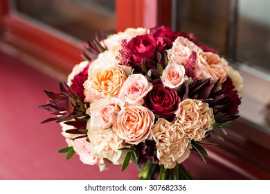 close up of wedding bouquet. bridal bouquet