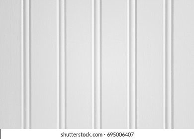 Close up of white beadboard or wainscot