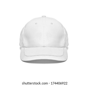close up of  a white cap template template on white background
