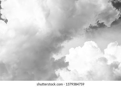 Close up White cloud on dark sky.