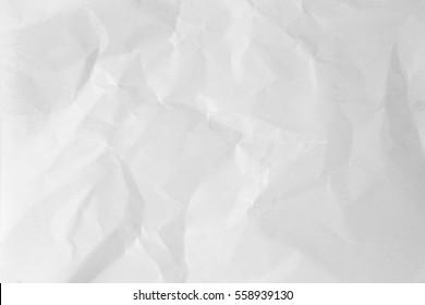 close up white crumpled paper