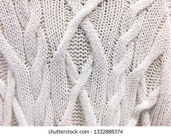 81bd018bca4b Close up of white knitted sweater background