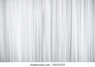 Close Up White Lace Curtain Backdrop