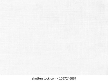 Close up white linen fabric texture background