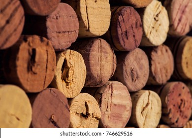 close up of wine corks backgrounds
