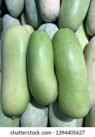 Close up winter melon, wax gourd, white gourd, winter gourd, ash gourd,Benincasa hispida.