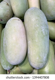 Close up winter melon, wax gourd, white gourd, winter gourd, ash gourd, Benincasa hispida.
