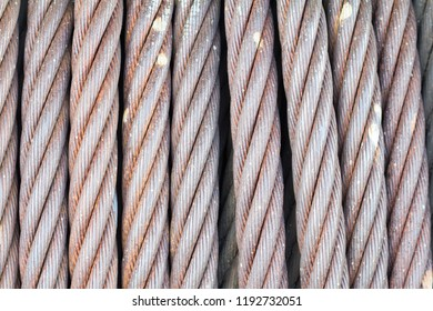 Close Up Wire Rope Background, Art Pattern