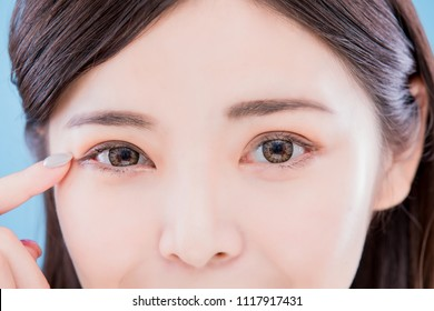 close up of woman eyes for your concept