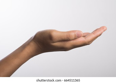 Close Up of a woman hand isolated on white background.