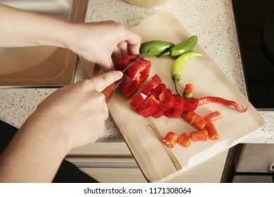 close up woman hands preparing food