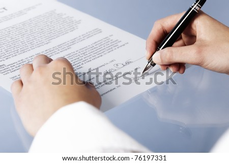 Close Woman Signing Legal Document Contract Stock Photo Edit Now - Signing legal documents