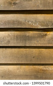 Close up of wood cladding on a building