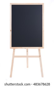 Close up of wooden blackboard on white background isolated.