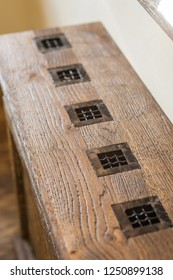 Close up wooden cover radiator