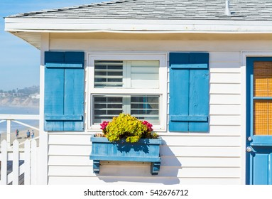 close up of a wooden house in California, USA