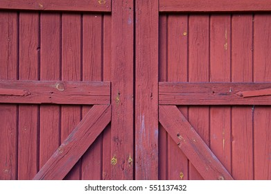 Close Wooden Red Barn Door Background Stock Photo Edit Now