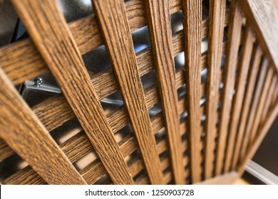 Close up of wooden structure of radiator cover