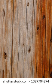 Close up wooden texture of a utility pole
