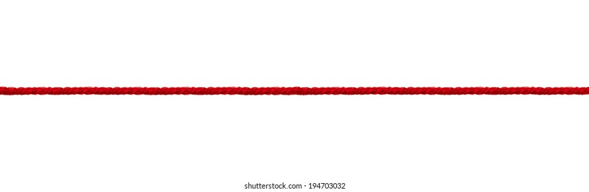 close up wool string on white background