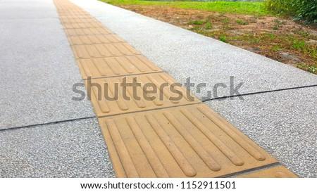 Wandplank Blinde Montage.Close Yellow Color Blind Floor Tiles Stock Photo Edit Now